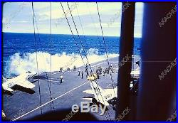 11 Vintage Slides USS MIDWAY Jet Aircraft F-11 & Others 1950s Supply Transfer +