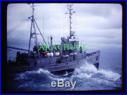 12 Slides 1968 US Navy Ship to Ship TRANSFER AT SEA USS Carpenter DD-825 / TF-96