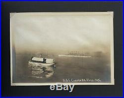 1905 U. S. Ships Photo Album Momus Missouri Maine Cumberland & Others