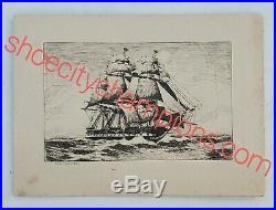 1926 Old Ironsides Program-curtis D. Wilbur Reveals Gordon Grant Oil Painting