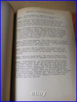 1945 USS GOFF DD-247 Ship's Organizational Book WWII Destroyer Atlantic Convoy