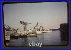 1950s Photo Slide USS Los Angeles CA-135 Moored Yokosuka Naval Base