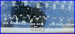 1952 Uss New Jersey Battleship Us Navy Ships Company Photo Capt. Mccorkle Rare