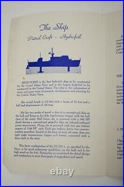 1962 Boeing Aerospace PCH-1 High Point Hydrofoil Patrol Boat Launch Program Vtg