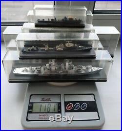 7 PCS = Soviet vintage = collection of metal models cruiser battle ships = 1970s