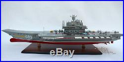 Admiral Kuznetsov Russian Aircraft Carrier Handcrafted Model Ship Scale 1/300