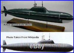 Alfa Class Russian Navy Submarine Desktop Kiln Dry Wood Model Large New