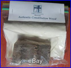 Authentic USS Constitution Wood-Old Ironsides Ship from 1973-74 Overhaul withCOA