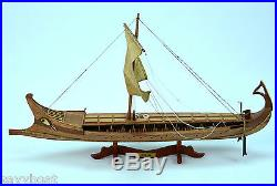 BIREME Ancient Ship 32 Handcrafted Wooden Ship Model NEW