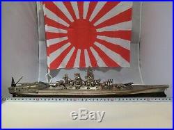 Battleship YAMATO Japanese Navy Ship metallic Model 1/550 size With display case