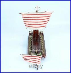 CAESAR Roman Bireme 30BC Ancient Warship 24 Handcrafted Wooden Boat Model NEW