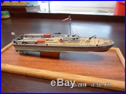 Collectible Soviet Russian (MTB) Motor Torpedo Boat D-3 Desk Top Model Ship Navy