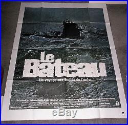 DAS BOOT/THE BOAT original WW2 SUBMARINE large movie poster JURGEN PROCHNOW