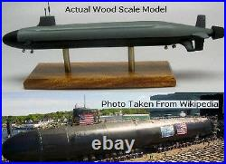 Dynamics USS Jimmy Carter Submarine Desktop Kiln Dried Wood Model Large New