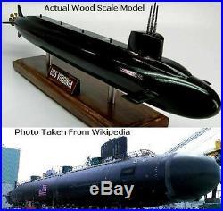 Dynamics USS Virginia US Navy Submarine Desktop Kiln Dry Wood Model Regular New