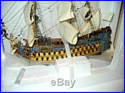 FRENCH LE SOLEIL ROYAL Wooden Warship Tall Ship Model 15 Fully Assembled