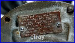 Federal Enterprises Brass Ships Horn Navy Deparment Bureau Of Ships IC H4D2
