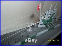 German U Boat Submarine display model 37 long Boat Ship WWII