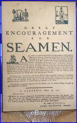 Great Encouragement for Seamen