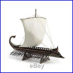 Greek Warship Cold Cast 14 Bronze Model Ship Boat Assembled