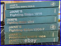 Group of 6 JANE'S Fighting ships