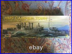 HMS Campbeltown Four Stack British Destroyer Model by Revell 1240 Scale
