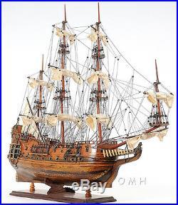 HMS Fairfax Royal Navy Handmade Wooden Tall Ship Model 34 T021
