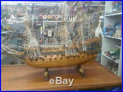 HMS Victory Tall ship pre-made withdisplay case