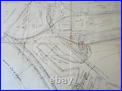 Hungary Ferencvarosi Maritime Port Antique Map 1230 X 660 MM 1931 Very Rare