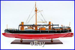 Italian Caio Duilio 1888 Battleship Model 36 Handcrafted Wooden Model NEW