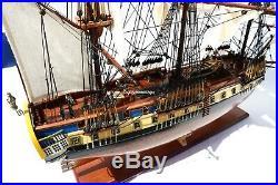 La Fayette Hermione Handcrafted Wooden Ship Model