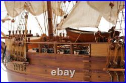 Large 32 HMS BEAGLE SHIP MODEL Charles Darwin's Assembled Wood Replica Nautical