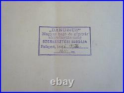 MAHART HUNGARY Österreich AUSTRIA GERMANY REGENSBURG MARINE SHIP PLAN 1895