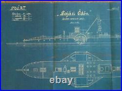 MAHART HUNGARY Österreich AUSTRIA GERMANY REGENSBURG MARINE SHIP PLAN 1915