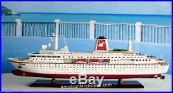 MS DEUTSCHLAND Ocean Liner Ship Model 34 Handcrafted Wooden Model