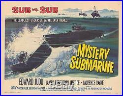 MYSTERY SUBMARINE original WW2 22x28 movie poster BRITISH NAVY/GERMAN SUBMARINE