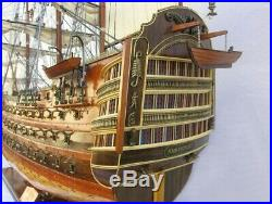Model Ship Traditional Antique Hms Victory XL Brass Chrome Rosewood Mahog