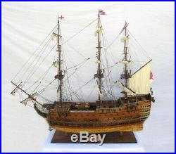 Model Ship Traditional Antique Hms Victory XL Chrome Brass Mahogany Rosew