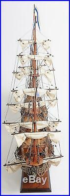 Model Ship Traditional Antique Soleil Royal Medium Brass Metal Rosewood N