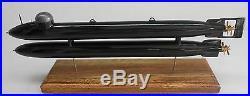 Neger Germany Human Torpedo Mahogany Kiln Dry Wood Model Large New