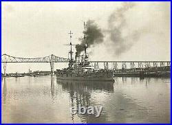 ORIGINAL WW1 GERMAN HIGH SEAS FLEET BATTLESHIP SMS HANNOVER PHOTO c1916