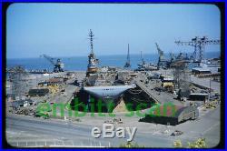 Original Slide, Navy Aircraft Carrier USS Bon Homme Richard (CVA-31), in 1955