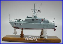 PGH-2 Tucumcari Hydrofoil Boeing Mahogany Kiln Dry Wood Model Large New