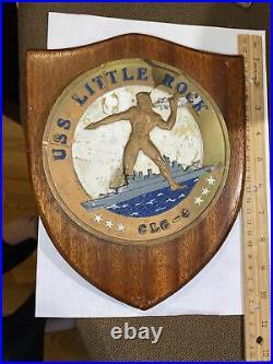 Plaque Uss Little Rock Clg-4 Ww II Usn Crusier