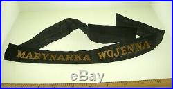 Poland Ww2 Marynarka Wojenna Seaman's Hat Tally Nice Condition Best Offer