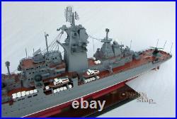 Pyotr Velikiy Russian Warship Handcrafted War Ship Display Model