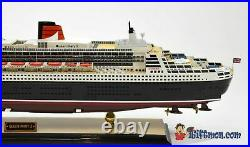 QUEEN MARY 2 II passenger ship large fully built museum quality LED READY model