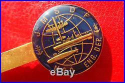 RARE OLD Japan Maritime Self-Defense Force JMSDF ENG. DEP. CUFFLINKS/TIECLIP SET