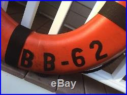 RARE USS New Jersey Battleship NJ BB-62 Authentic Life Saving Throw Rings