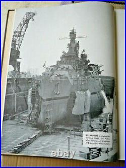 RARE US Navy USS Nevada WWII book